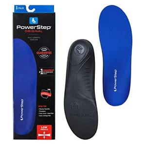 Powerstep Original Orthotics-U Insole, Blue/Black, Men's 7-7.5, Women's 9-9.5