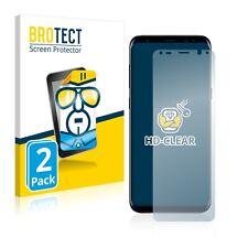 2x Displayschutz Folie Klar Samsung Galaxy S8 Plus Schutzfolie Displayfolie