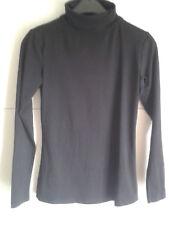 Damen Shirt Pullover Pulli Langarm Rollkragen schwarz Größe S  Baumwollmischung a1eba1570e