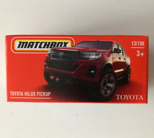 2021 MATCHBOX #13 - Toyota Hilux Pickup (Red - Mix 5) 1x Power Grab - New
