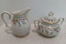Rosenthal Chippendale Eleanor White Creamer and Sugar Bowl #2567