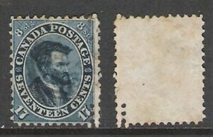 BRITISH CANADA 1859-64 17c CARTIER PERFING / DOUBLE PERFS ? (JF-F)