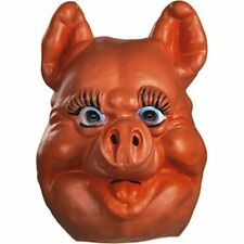 Pig Mask Cute Cartoon Character Style Full Head Latex Farm Animal Mask