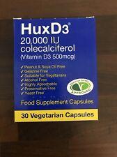 HuxD3 Colecalciferol 20000iu Vitamin Hux D3 Capsules Vegetarian Kosher Halal