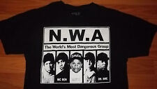 N.W.A. Most Dangerous Rap Group T-Shirt M Hip Hop Dr Dre Ice Cube Eazy E Yella