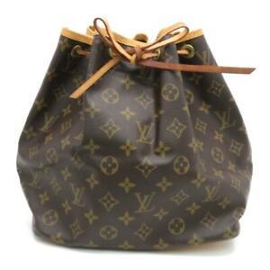 Louis Vuitton Petit Noe Monogram Canvas Brown Bucket Drawstring Bag M42226