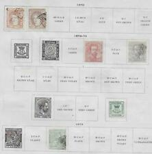 6 Spain Stamps from 19th Century Brown Scott Album 1870-1873