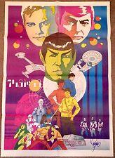 Jim Steranko Collection! Vintage 1978 SIGNED Star Trek Art Poster ~ Kirk & Spock