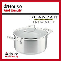 NEW Scanpan Impact 18/10 S/Steel Covered Dutch Oven Casserole 22cm - 4.7L 22010