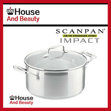 NEW Scanpan Impact 18/10 S/Steel Covered Dutch Oven Casserole 22cm - 4.5L 22010