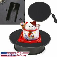 """8"""" Black Anti-slip Top  Rotating Turntable Dynamic Display Stand Battery  !"""