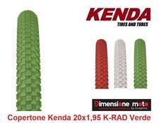 """1 Copertone """"KENDA"""" 20x1,95 (50-406) K-RAD Colore Verde per Bici 20"""" City Bike"""