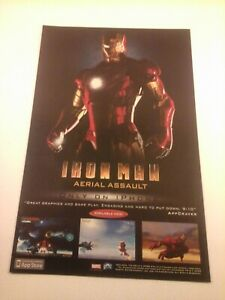2008 Video Game Print Ad - IRON MAN: AERIAL ASSAULT - IPHONE MARVEL