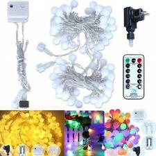 100 LED Party Kugel Lichterkette 8 Lichtermodi Innen Außen Deko Wasserdicht 13m
