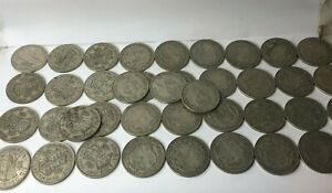 50 x pre 1947 Silver half crowns 700 gram 50% silver 350 gram net circulated