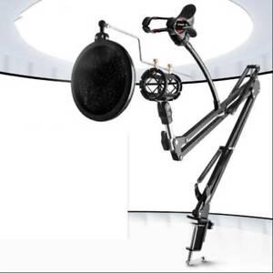 Mikrofonständer profesionelle Mikrofonhalter Mikrofonarm mit Spinne und Adapter