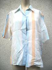 Gestreifte hüftlange Damenblusen, - Tops & -Shirts aus Leinen