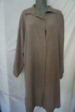 Made In Italy Blusenkleid Sommer Kleid Grau Braun Schlamm gr 46-48-50