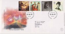 GB ROYAL MAIL FDC FIRST DAY COVER 1999 ENTERTAINERS' TALE STAMP SET BUREAU PMK
