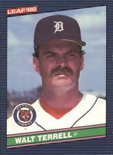 1986 Leaf/Donruss Baseball Card #123 Walt Terrell