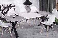 hochwertiger Esstisch 130-210 ausziehbar Beton edler Esszimmertisch Metall