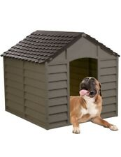 Starplast Small Dog House Kennel - Weather & Water Resistant - Easy Assembly