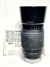 Tele-objectif ZOOM NIKON AF Lens Nikkor 70-300mm f/4,5-5,6 G +NOTICE/PARE-SOLEIL