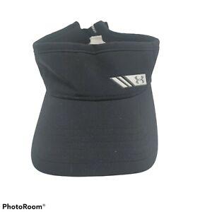 Under Armour Women's Golf Visor Black Tennis Running Cap Hat Black