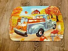 Fall Thanksgiving Harvest Platter Serving Tray Melamine Plastic Truck Pumpkins