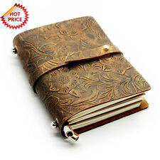 HANDMADE Vintage Diary Planner Retro Notebook LEATHER JOURNAL Travel Sketchbook