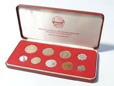 More details for 1976 - 9 coin proof set republic of malta franklin mint original box +coa