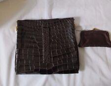 Vintage Koret Crocodile Leather Belt Purse Handbag with Attached Coin