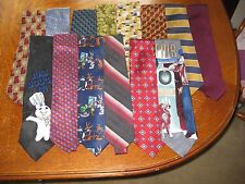 Mens Tie Lot of 14 Brooks Brothers Zegna Bugatchi Uomo Tommy Bahama Geometric