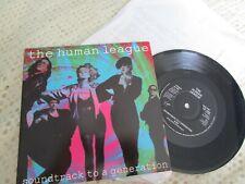 HUMAN LEAGUE Soundtrack to a Generation + PR letter UK 7 inch 45 vinyl