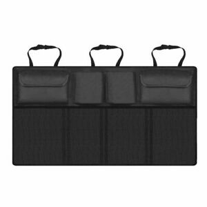 Universal Storage Bag SUV Van Car Organizer Trunk Rear Back Seat Mesh Net Pocket