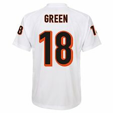 Cincinnati Bengals NFL A.J Green #18 White Boys 4-7 Player T-Shirts/Jerseys: S-L