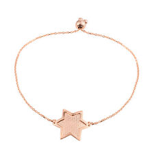 STAR ADJUSTABLE BRACELET 14K ROSE GOLD OVER STERLING SILVER MAGIC BALL ADJUST