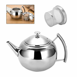 2L Teapot Container Coffee Pot Kettle Filter Large Capacity Stainless Steel Tool