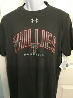 Philadelphia Phillies Mens Under Armour Reflective Arch TRI-BLEND T-Shirt - NWT