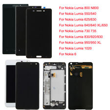 Fr Nokia Lumia 520 630 640 800 920 1020 6 /XL LCD Display Touch Screen Frame #88