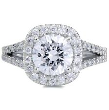 3.61 CT ROUND CUT D/VS2 DIAMOND SOLITAIRE ENGAGEMENT RING 18K WHITE GOLD