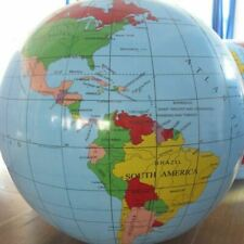Inflatable Globe 40cm 16-Inch Atlas World Map Earth Beach Ball Geography Blow up Toy