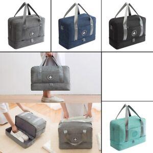 Luggage Travel Bag Fabric Waterproof Duffel Double Layer Storage Beach Portable