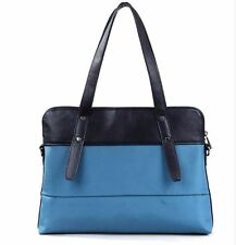 "Aimee Tote Ladies Laptop Handbag Blue/Black Briefcase 14"" Women Shoulder travel"