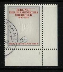 Berlin 666, 100 Jahre Philhamonie Eckrandstueck Formnummer 1, gestempelt #n672