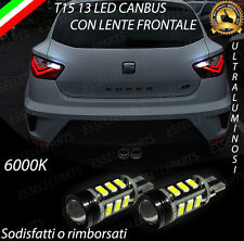LAMPADE RETROMARCIA 13 LED T15 W16W CANBUS PER SEAT IBIZA V 5 6000K NO AVARIA