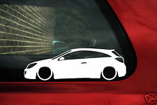 2x LOW Vauxhall Astra VXR / OPC mk5 H outline stickers