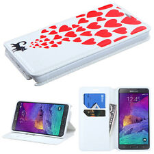 For Samsung Galaxy Note 4 Premium Wallet Case Pouch Flap STAND Cover Accessory