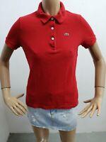 Polo LACOSTE donna taglia size 38 maglia maglietta shirt woman P 5682
