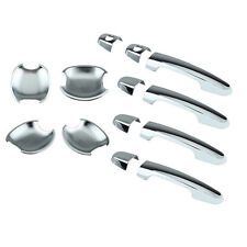 For Toyota Corolla Sedan RAV4 Yaris 01-13 Set Door Handle Cover+Bowls Chrome